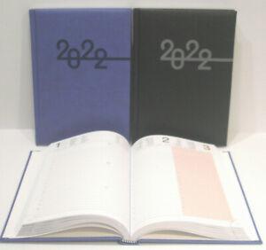 2022 Buch- Tageskalender A5 1 Tag =1 Seite, Rido Idé Mentor, Kunstleder Prestige