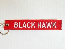 Sikorsky BLACK HAWK Remove Before Flight Tag Keychain Embroidered Military NEW