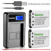 Kastar Battery LCD Charger for Olympus Li-42B & X-560WP X-600 X-730 X-785 X-790