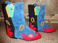Youth/Child Boys/Girls little capezio Sz 2.5M Colorful Western Cowboy Boots ZALO