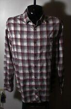 Men's HORNY TOAD Burgundy Gray 100% Organic Cotton Long Sleeve Shirt Size XL
