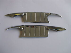 57 CHEV CHROME DOOR HANDLE GUARDS NEW 1957 CHEVROLET