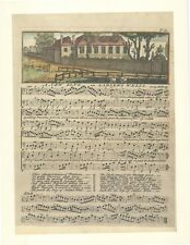 "1746 Engraving ""A New Song on Sadler's Wells"" from ""The Universal Harmony"""