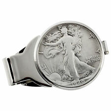 NEW Year to Remember Silvertone Half Dollar Coin Money Clip 1942