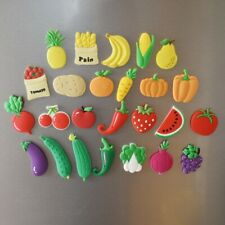 25pcs Fruits Vegetable Kids Early Education Toys Gifts Fridge Magnets Soft