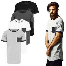 Urban Classics Imitación de Cuero Camiseta de Manga Corta 3 Modelos Negro S-XXL
