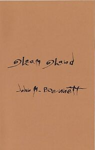 "JOHN M. BENNETT ""GLEAM GLAND"" LIMITED EDITION CHAPBOOK CONCRETE VISUAL POETRY***"