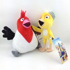2X Rio the Movie Plush Toy Pedro & Nico Friends Red Canary Bird Stuffed Animal