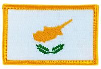 CYPRUS FLAG PATCH BADGE IRON ON NEW EMBROIDERED