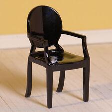 Dolls House 7219 schwarzer Stuhl - Ghost- Holz 1:12 für Puppenhaus NEU! #