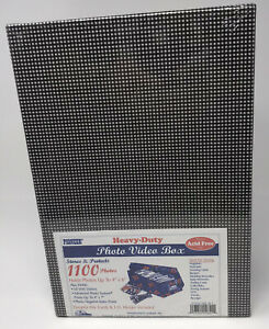 Pioneer Heavy Duty Photo Video Box Storage Box Includes File Cards & ID Holder