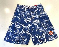 Chicago Cubs MLB Men's Genuine Apparel G-III Hawaiian Swim Trunks Shorts L Blue