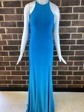 FAVIANA WOMEN SEAL BLUE SLEEVELESS V-NECK MAXI GOWN DRESS SIZE 8
