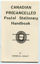 Weeda Literature: Canadian Precancelled Postal Stationery Handbook, Manley/Webb