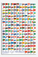 Flags Of The World Large Poster New - Maxi Size 36 x 24 Inch