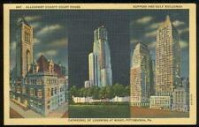 Pittsburgh Pennsylvania Lot Three Postcards Roosevelt Hotel Stadium Landmarks