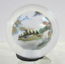 Paperweight or Door Handle Reverse Painted Sphere AKA Li Bien -- Free Shipping *