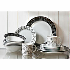 16 pièce servant de salle à manger en porcelaine de soho un dîner service set assiettes tasses bols tasses