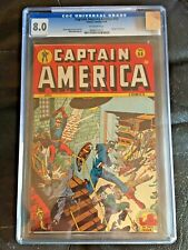 CAPTAIN AMERICA COMICS #55 CGC VF 8.0; OW; Human Torch story!