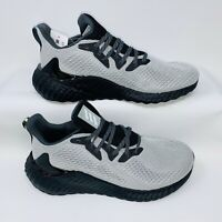 Adidas FW4548 Men's Alphaboost Boost Running Shoe's Black Grey White Size 10.5