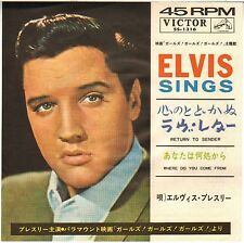 "ELVIS PRESLEY ""RETURN TO SENDER"" 1962 SP VICTOR 1316 JAPON !"
