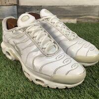 UK7 Nike Air Max Plus TN Triple White Trainers - AJ2029-100 - Genuine - EU41