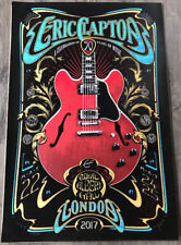 Eric Clapton Poster Royal Albert Hall London Adam Pobiak Screenprint May 2017