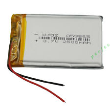 3.7V 2500 mAh Polymer rechargeable Li battery For GPS DVD ipod Tablet PC  853865