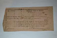 $3000 Interim Deposit Receipt- Confederate States of America- Richmond, Va.