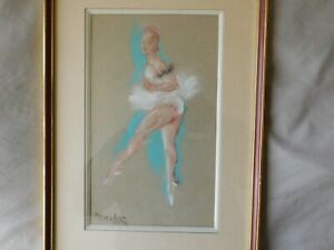 Sigmund ( Zygmunt ) Menkes - American Polish artist - Dancing French Ballerina