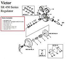 Victor Sr450d Regulator Rebuildrepair Parts Kit With Diaphragm Amp Bottle Fittings