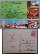 Milano - Vedute - Carta geografica 1964