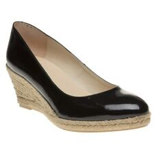 New Womens SOLE Black Cyra Patent Leather Shoes Court Slip On