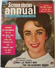 1959 Screen Stories Annual Liz Taylor Cover Elvis Presley Jailhouse Rock Films