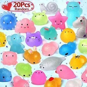 LUDILO Mochi Animal Squishies Toys 2nd Generation Glitter Mochi Squishy 20pcs...