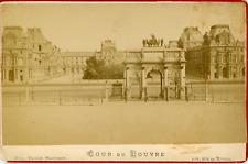 Maison Martinet, France, Paris, Cour du Louvre, ca. 1880, vintage albumen print
