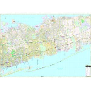 Suffolk County, NY Western Wall Map