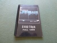 Blondie   VERY RARE   A5  Europe  1999  Tour Itinerary
