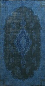 Antique Traditional Overdyed Handmade Area Rug Distressed Oriental Carpet 7x11