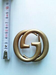 GUCCI FIBBIA GRANDE DOPPIA G ORO ANTICATO- BIG BUCKLE GUCCI GOLDEN ANCIENT
