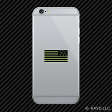Reverse Subdued OD Green American Flag Cell Phone Sticker Mobile america usa