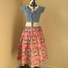 Hell Bunny Maxine Flamingo Skirt Retro Vintage Rockabilly Pin Up 40s 60s 50s