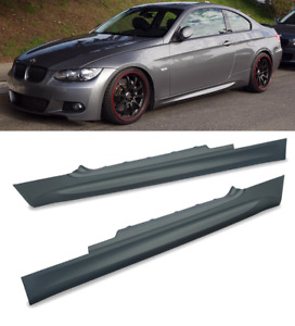 BMW 3 series E92 coupe M3 style side skirts left right pair primed PU rim UK