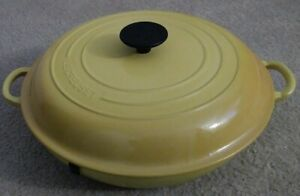 Le Creuset # 30 Yellow Enamel 3.5 Liter Dutch Oven Cast Iron Made in France