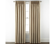 JCPenney Home Supreme Pinch-Pleat ONE Curtain Panel Linen 62.5 x 84L
