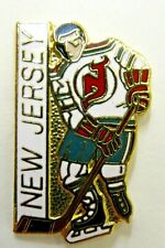 1980's NEW JERSEY DEVILS Hockey PLAYER figural tie tack lapel pin