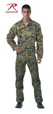 Woodland Flight Suit Digital Coverall Mens Medium Camouflage Paintball Airsoft M