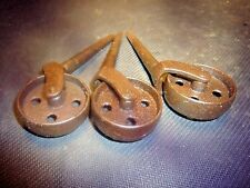 Full body 1 7/8 inch iron casters, set of 3, vintage____________275