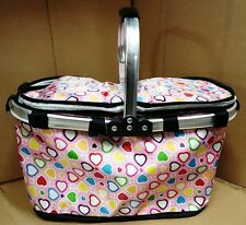 Cooler Bag Picnic Folding Basket Insulated Hamper Large Cool Bag 3 designs