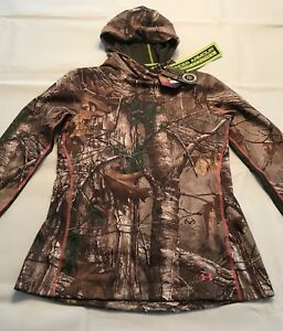 WMNS NWT UNDER ARMOUR REALTREE HOODED FITTED SWEATSHIRT-LARGE-FREE SHIPPING!